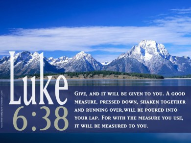 Luke 6-Give