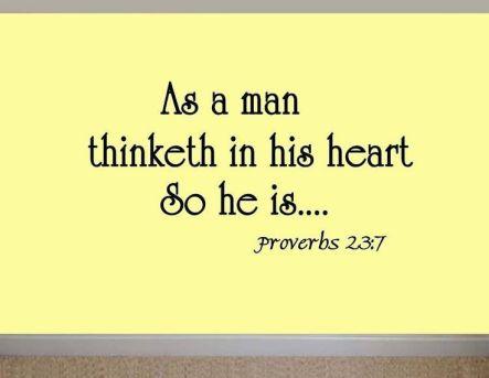 Prov 23-7 As Man Thinketh