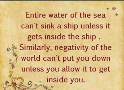 Do Not Allow Negative Thoughts Entry