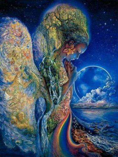 EarthMother - Colourful Blues-Globe