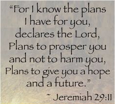 Jeremiah 29-11 Plans for Good