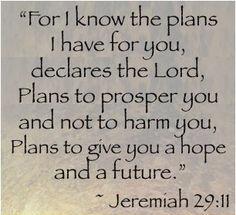 Jeremiah 29-11 Plans for Good