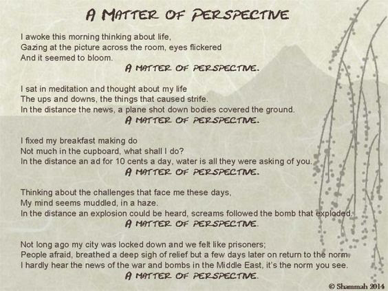 Perspective, A Matter by Shammah 2014