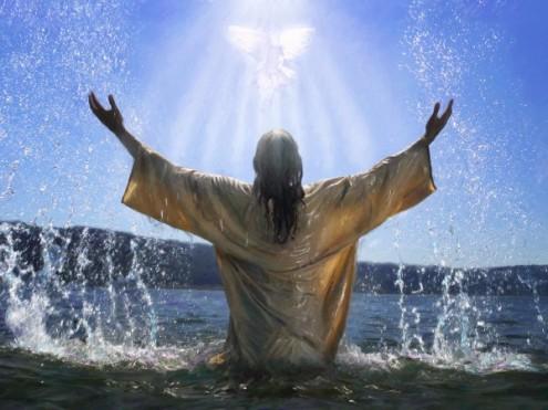 Yeshua Baptism-Dove