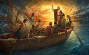 Yeshua-Disciples in Boat