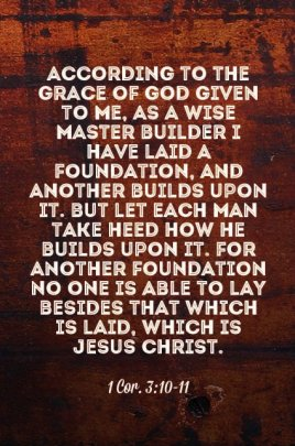Yeshua Wise Master builder - 1 Cor 3-10 to 3-11