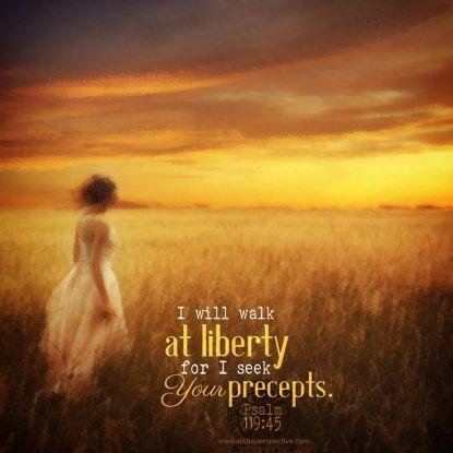 Psalm 119-45 Walk at Liberty