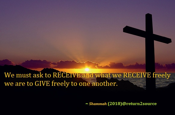 Ask, Receive & Give: Cross Symbol of Life