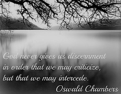 Discernment - Oswald Chambers